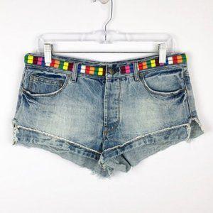 Free People | Distressed Threaded Cutoff Shorts